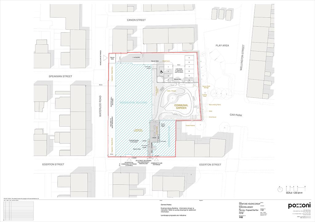 carnegie court runcorn proposed site plan